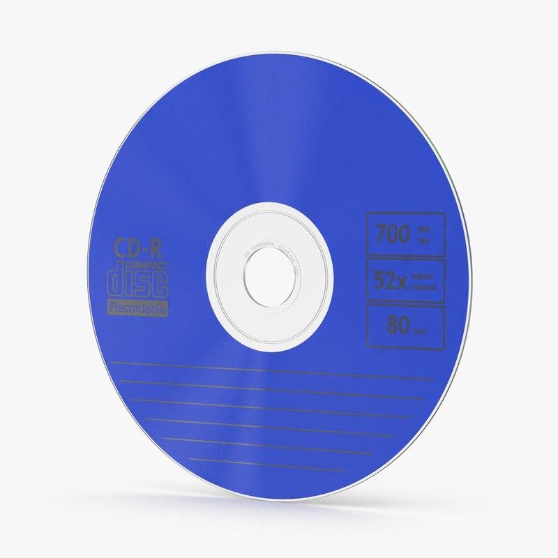 cd blue 3d max
