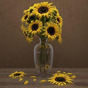 sunflowers 3d max