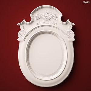 3ds mirror frame stl cnc