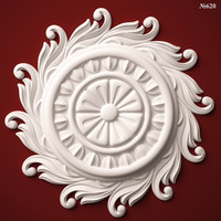 (620) Decor Element Rosette -3d STL model for CNC