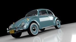 volkswagen beetle 1963 obj