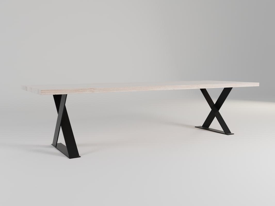 3d model table hudson dining mcm