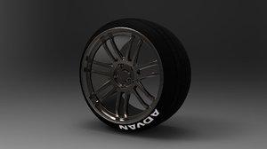 3d weds sport sa-97f racing wheel