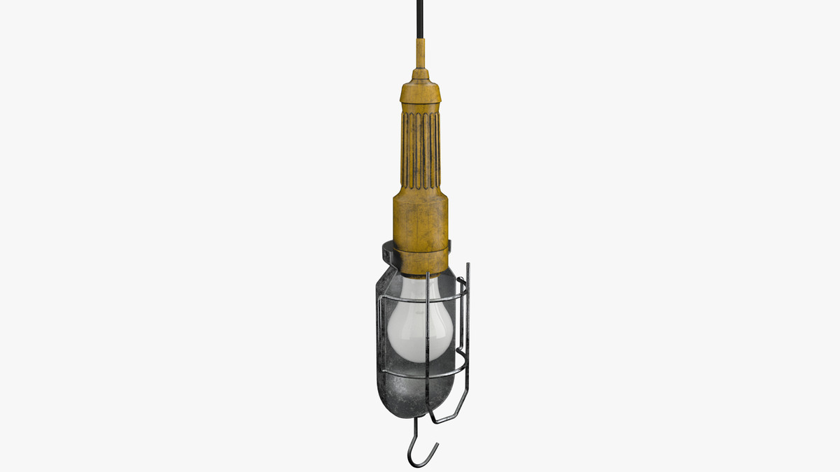 caged drop light 3d model