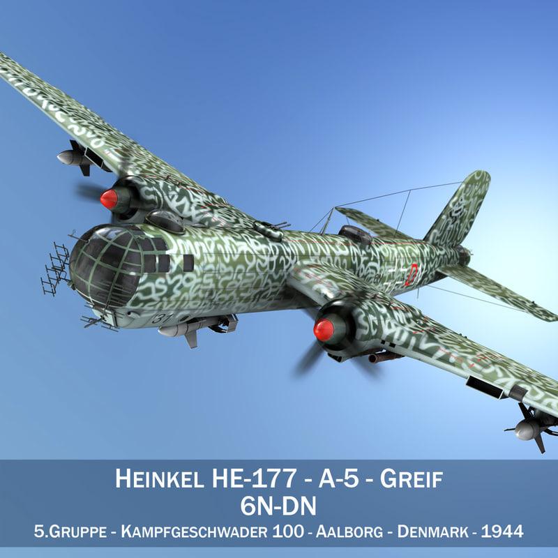3ds max heinkel he-177 a-5 -