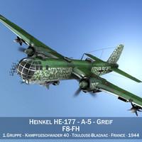 3d heinkel he-177 - bomber model