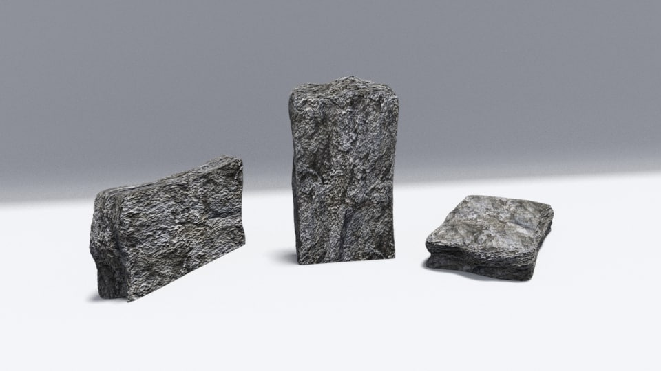 rock shader 3d model