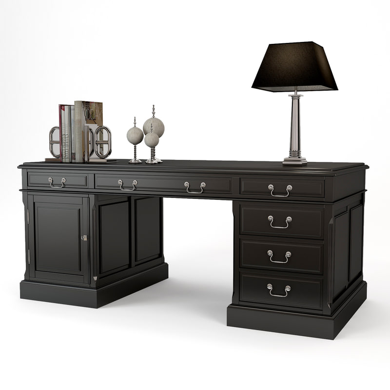 eichholtz writing desk british 3d model