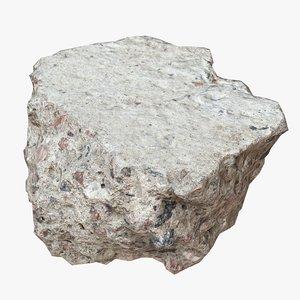 3d concrete debris model
