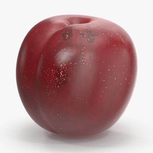 plum lighter skin leaf 3d model