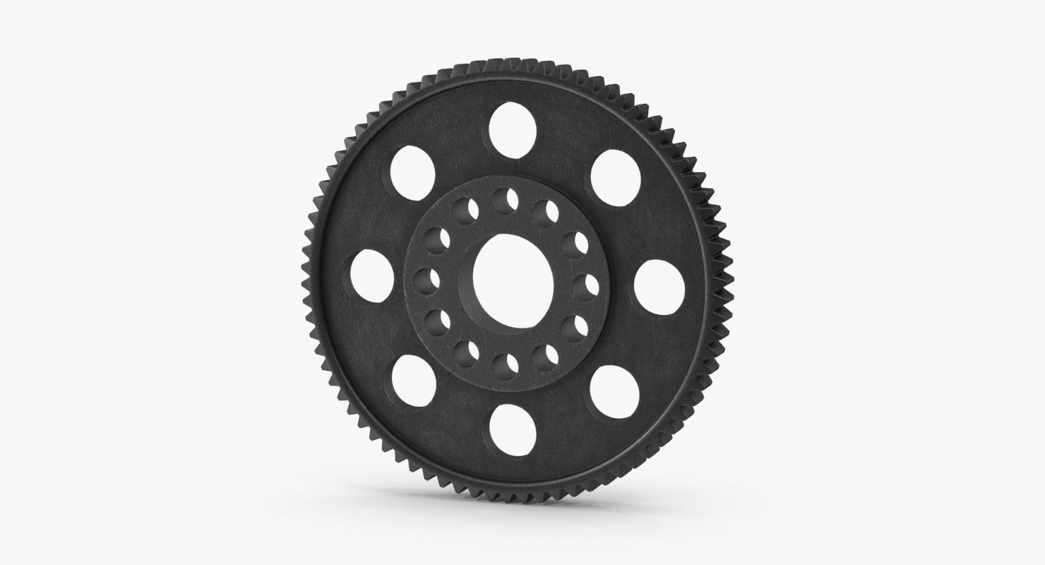 spur gear 04 gray max