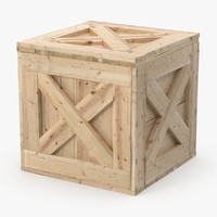 3d max square wooden crate 02