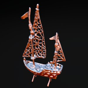 3d galleon knick-knack