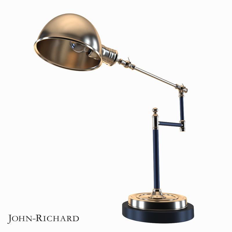 3d model table lamp john richard