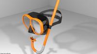 3d dive diver scuba model