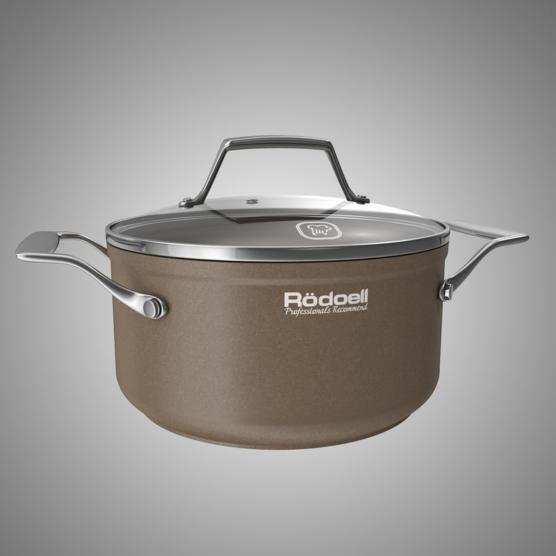 3d brown pan model