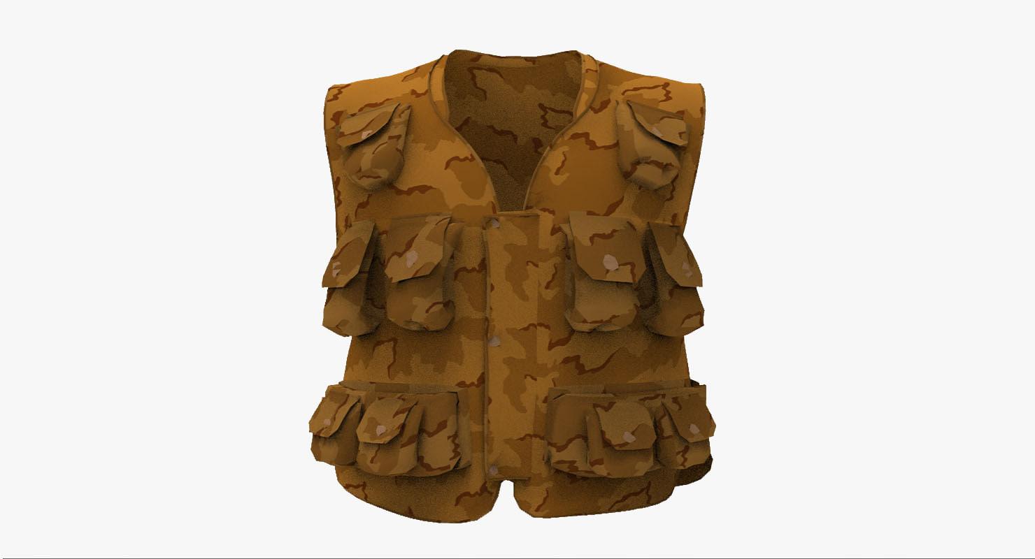 waistcoat vest 3d ma