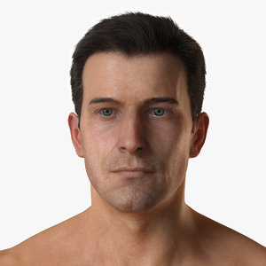 male character realistic hair 3d max