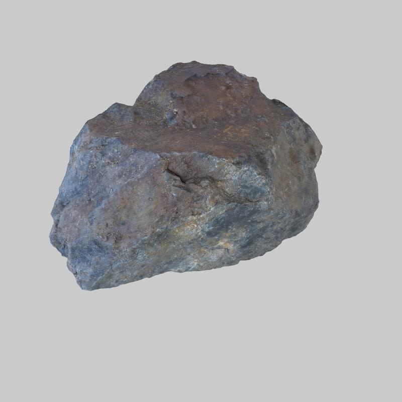 3d model photoreal rock