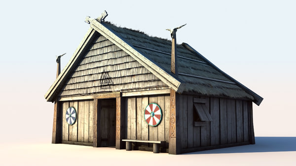 vikings house 1 3d model