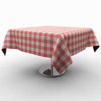 Classic wooden table with tablecloth