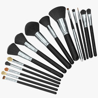3d model makeup brush set