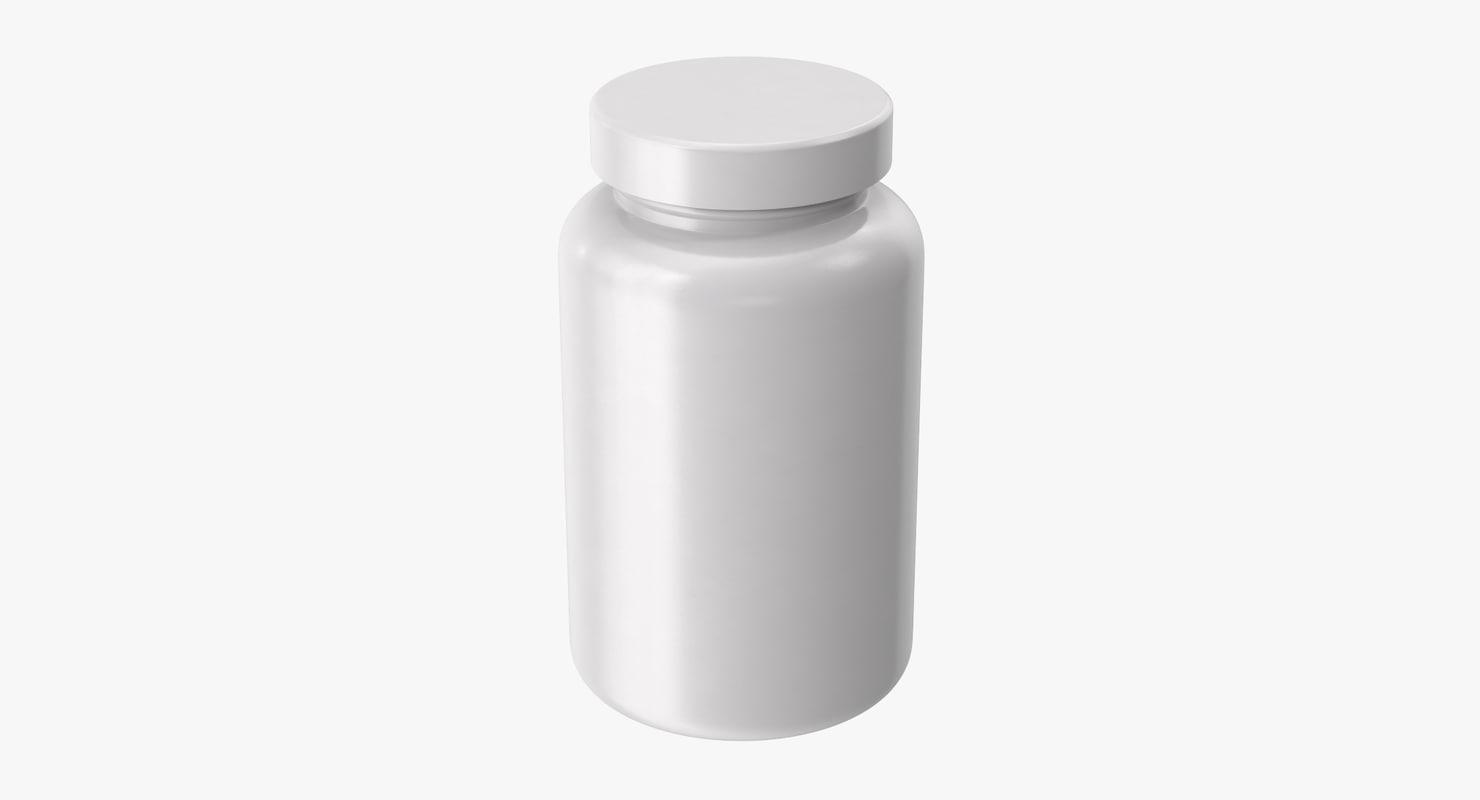 vitamin bottle 3d obj