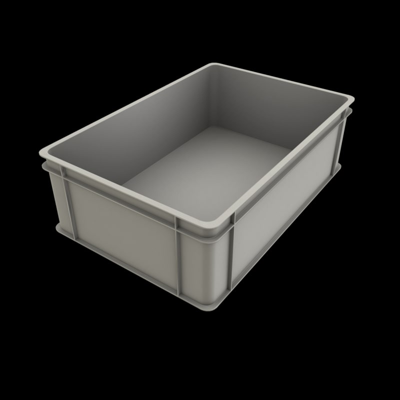 plastic stacking box fbx