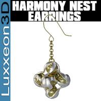earrings 3d obj