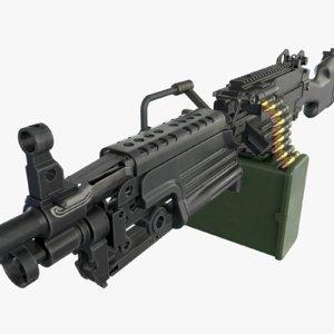 m249 machine gun 3d max