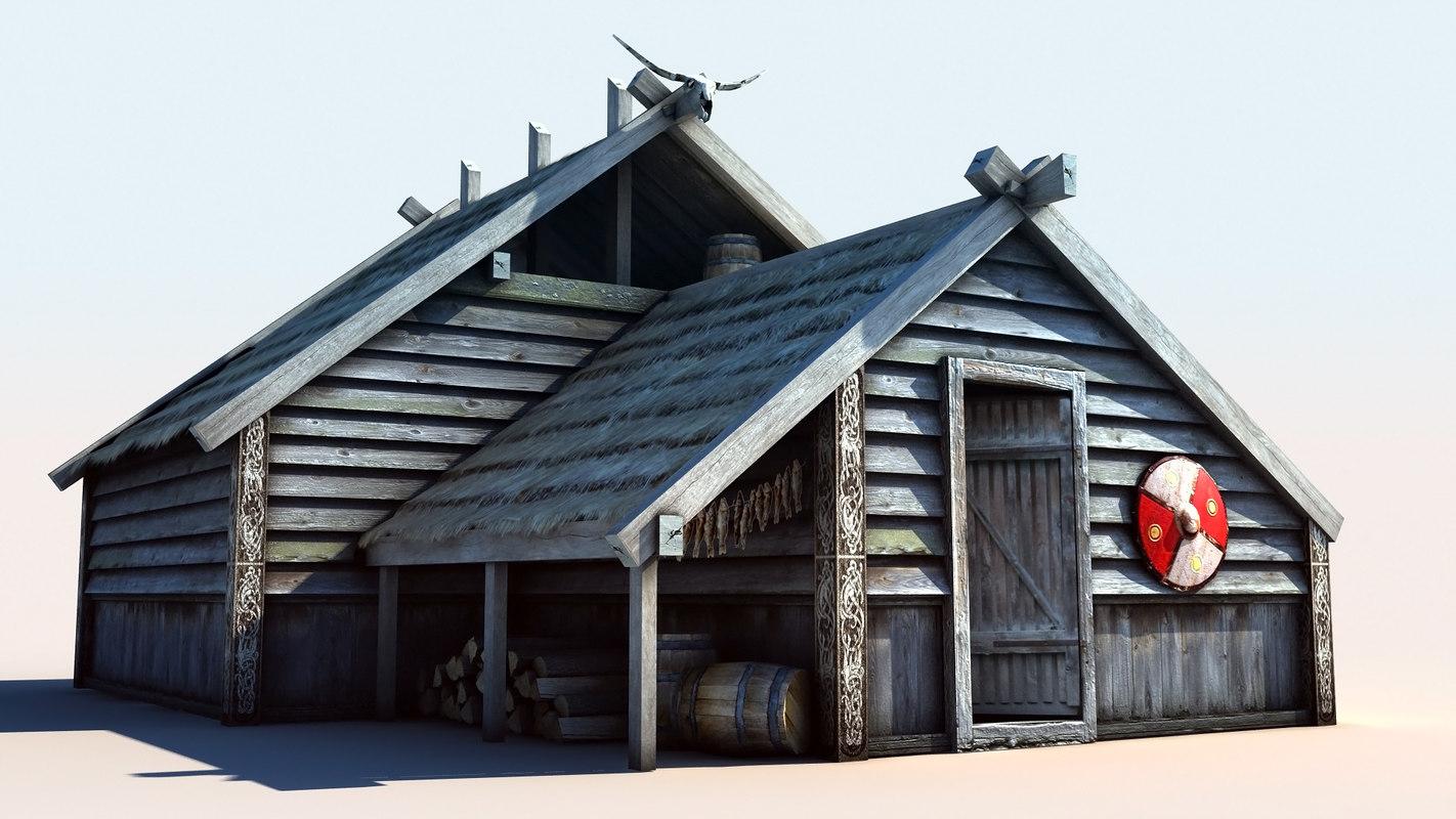 vikings house 2 3d model