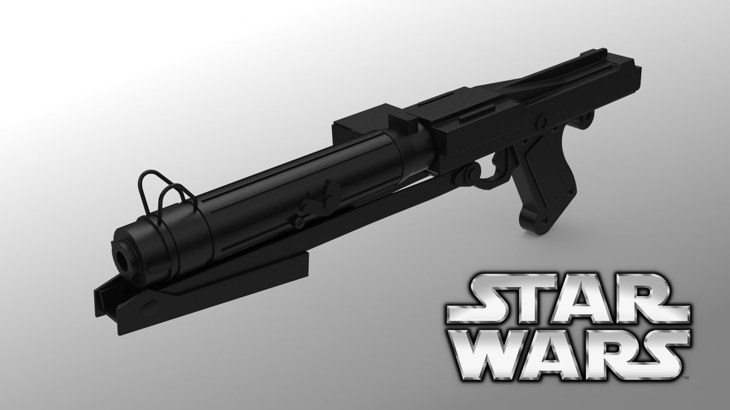 free s dc-15s blaster rifle 3d model