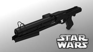 free s dc-15s blaster rifle 3d model