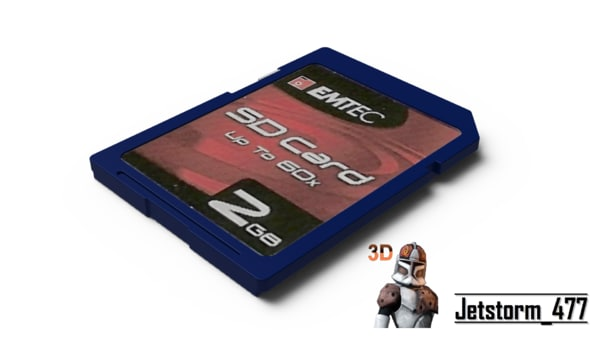 free sd card 3d model