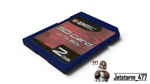 free sd card 3d model