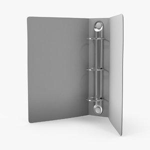 3d model ring binder