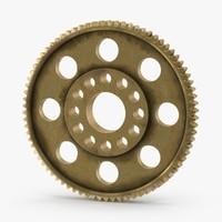 spur gear 04 gold 3d model