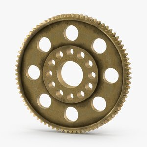 spur gear 04 gold 3d model