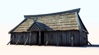 vikings house 3 longhouse 3d max