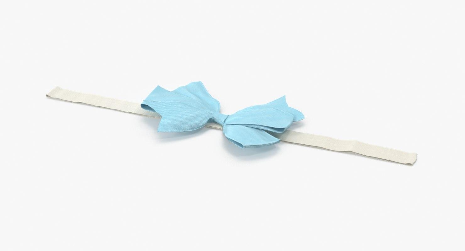 bow headband 01 blue max