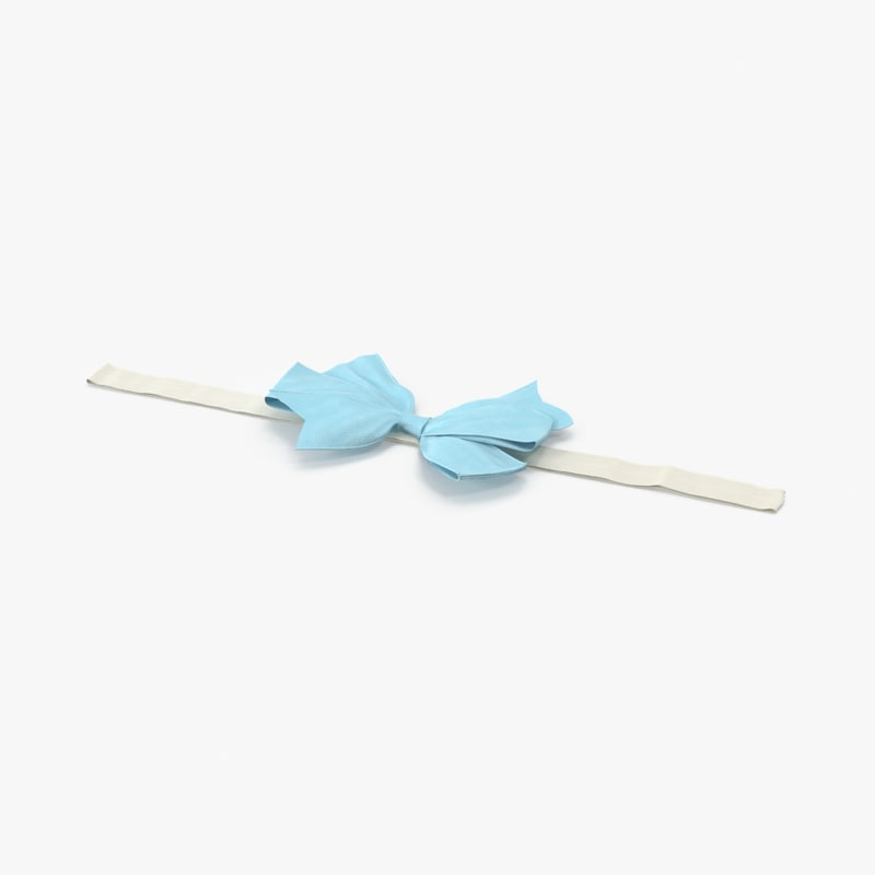 bow headband 01 blue max
