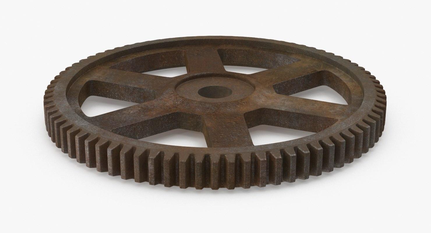 spur gear 03 rusty max