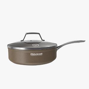 brown pan 3d model