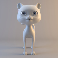 cat modelled ready 3d model