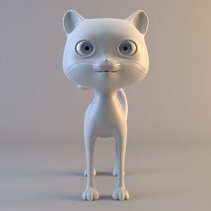 cat modelled ready 3d model