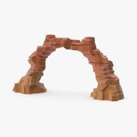 3d model desert rock arch