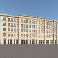 old residental facade 3d max