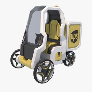 3d model urban delivery car