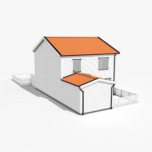 modern townhouse 3ds
