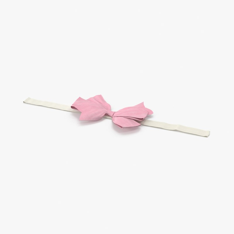 bow headband 01 pink max
